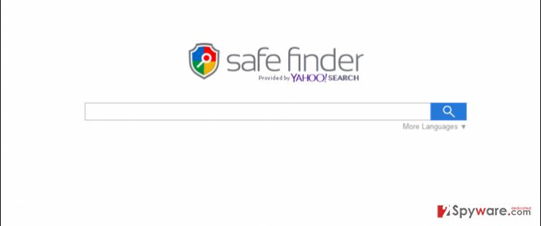 Екранна снимка на Search.SafeFinder.com