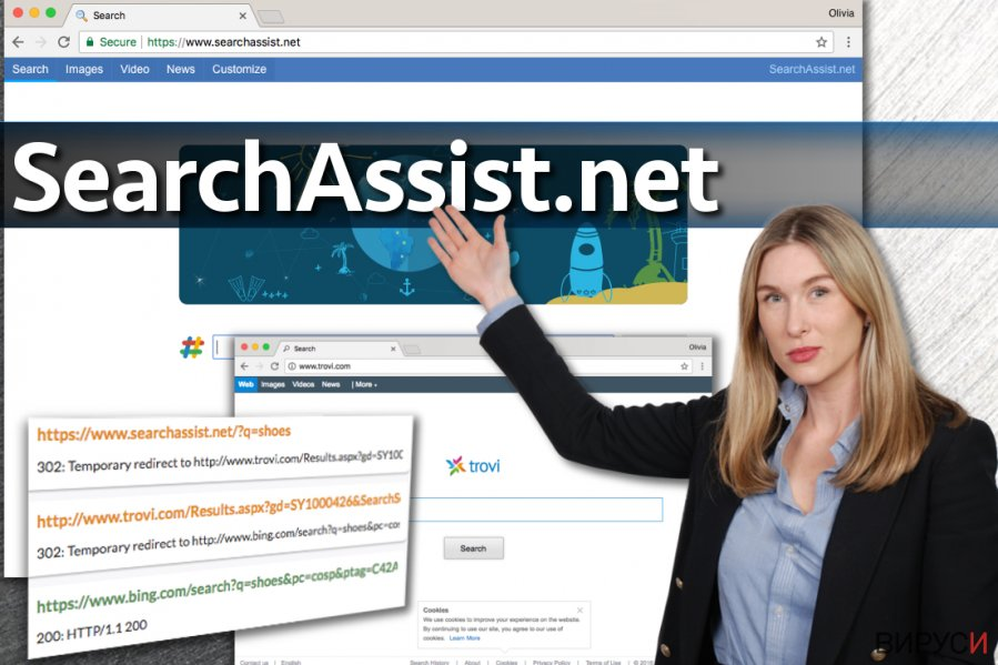 Вирусът SearchAssist.net