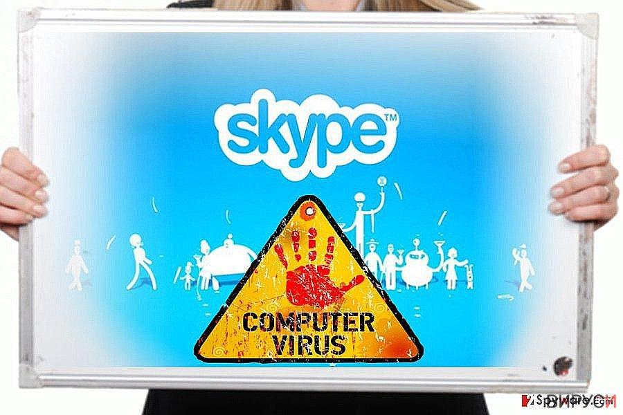Изображение на Skype вируса