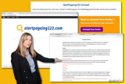 Илюстрация на вируса StartPageing123.com