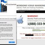 Екранна снимка на Вирусът Tech Support Scam