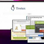 Екранна снимка на Вирусът Trotux.com