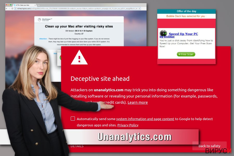Адуерът Unanalytics.com