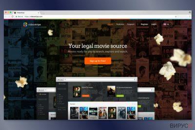 Изображение на уеб страницата на VideoStripe