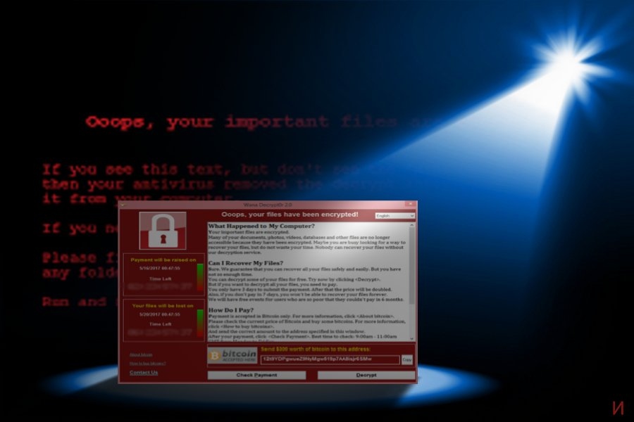 Изображение, показващо появата на WannaCry 3.0