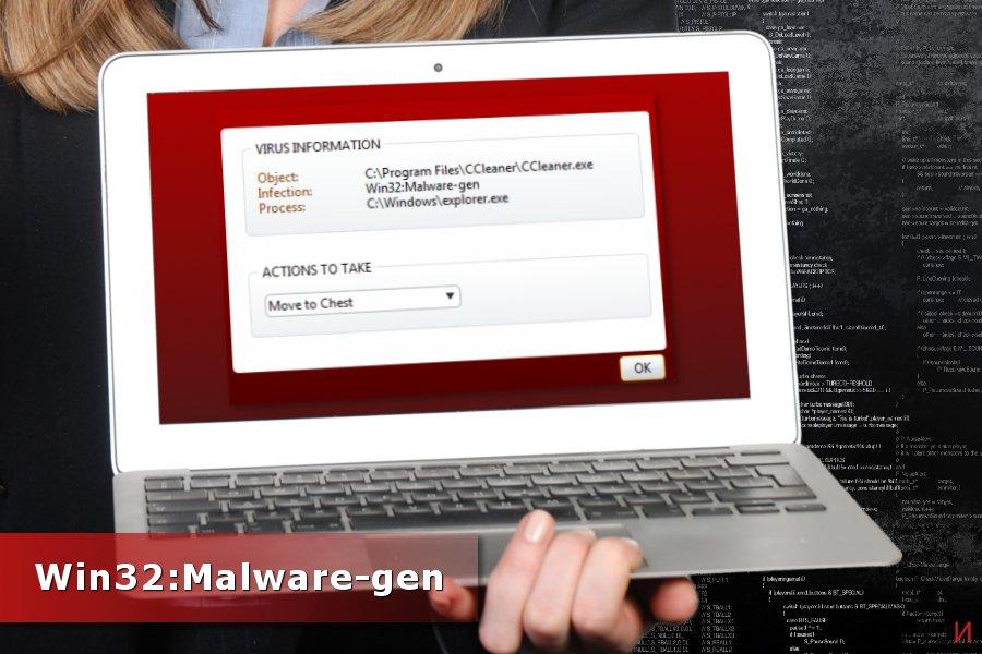 Откриване на Win32:Malware-gen