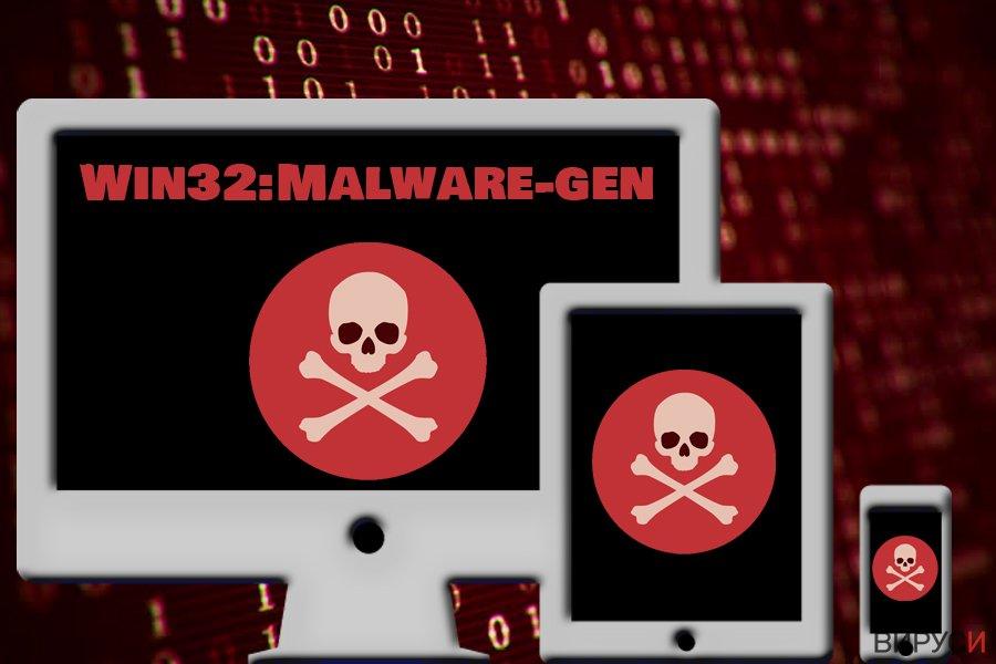 Екранна снимка на Win32:Malware-gen