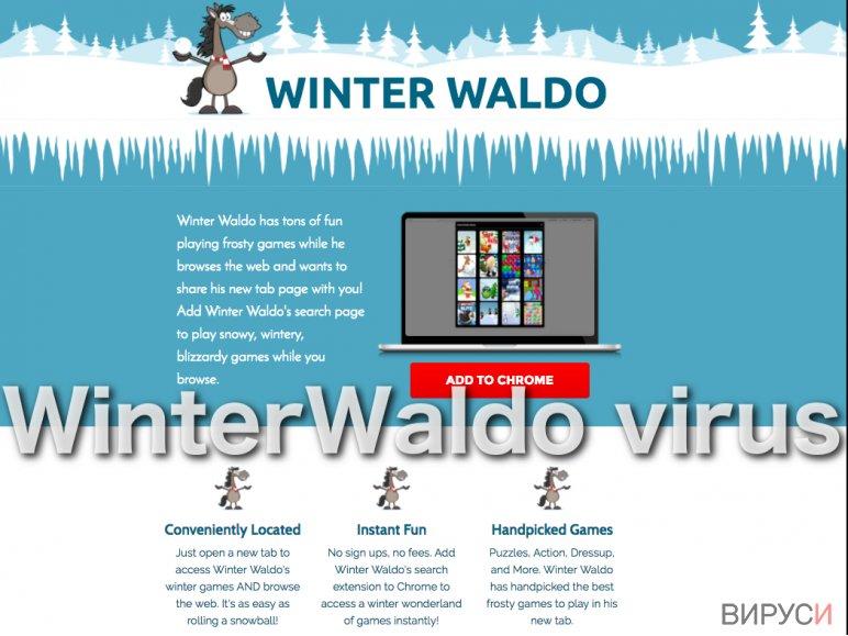 Screenshot of the WinterWaldo adware