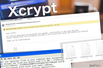 Вирусът XCrypt оставя тази бележка за откуп на жертвата