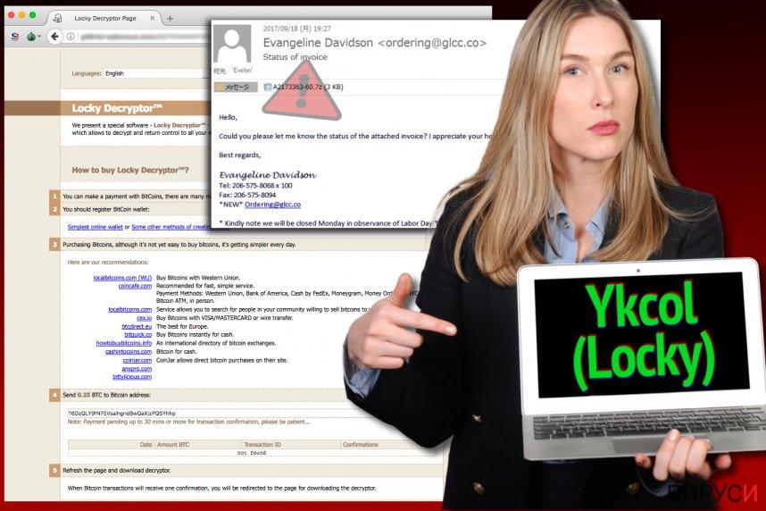 Вирусът Locky сега се нарича Ykcol