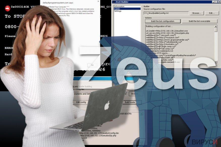 Изображение на вируса Zeus
